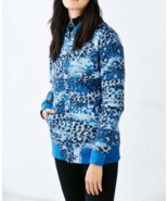 The North Face Anna Bomber Jacket Blue Leopard Sz S MSRP $149 - $66.33