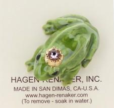 Hagen-Renaker Miniature Ceramic Frog Figurine Birthstone Prince 06 June image 3