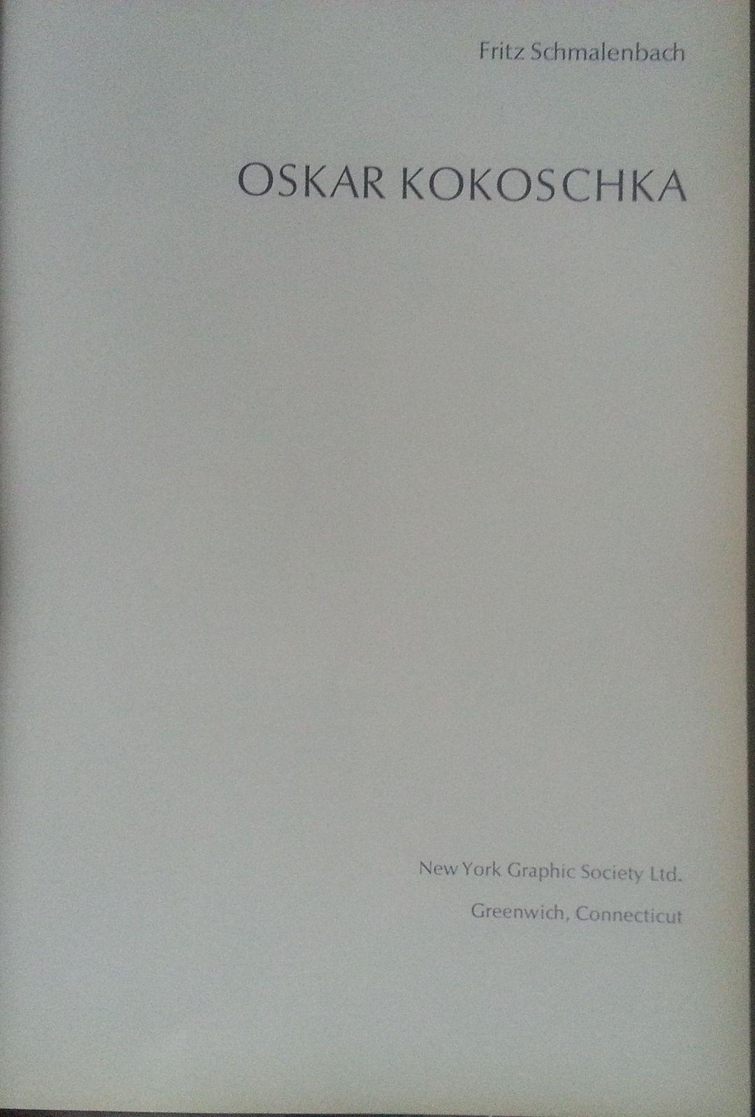 Kokoschka by Fritz Schmalenbach 1967 HBDJ 48 Color Plates