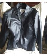Sleek Black Worthington Leather Jacket - $75.00