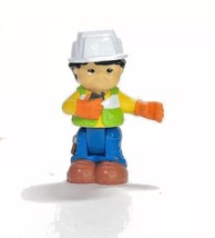 Fisher Price Little People Asian Construction Guy MAN Bendable Hard Hat  - $4.94