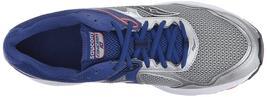 Saucony Herren Silber Blau Grid Cohesion 10 Laufen Läufer Schuh Sneaker Nib image 5
