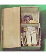 """Vintage Franklin Heirloom 17"""" Porcelain Doll With Purple Bonnet, NRFB - $14.95"""