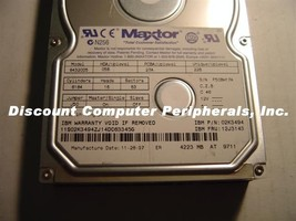 84320D5 Maxtor 4.3GB 3.5IN IDE Drive Tested Good Free USA Ship Our Drives Work
