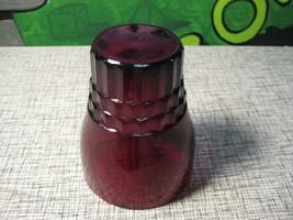 Flat Tumbler 10oz Royal Ruby Anchor Hocking Red Glass - $11.03