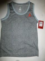 NIKE Jordan Jumpman Boys Grey Heather Elephant Print Tank Top New Small ... - $12.86
