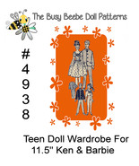 Newspaper Mail Order Pattern #4938 For Vintage Barbie Doll Clothes Wardrobe - $7.99