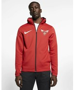 Nike Chicago Bulls Therma Flex Showtime On Court Hoodie Red 940118 Large - $75.99