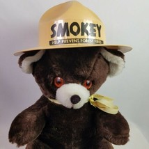 Dollcraft Teddy Bear Vintage 14 inch Smokey Hat Jr Ranger Spangled Eyes - $39.95