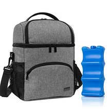 Teamoy Double Layer Breastmilk Cooler Bag with Ice Pack, Travel Baby Bot... - $51.70