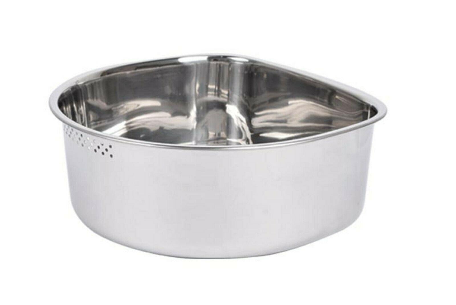 Characin Stainless Steel Dishpan Basin Dish Washing Bowl Portable Tub (D Shape)