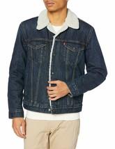 Levi's Strauss Men's Sherpa Lined Cotton Denim Jean Trucker Jacket 163650115 image 2