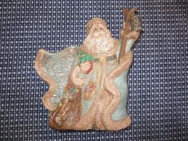 International Santa Claus FATHER CHRISTMAS w/LANTERN Ceramic Figurine--1... - $14.85