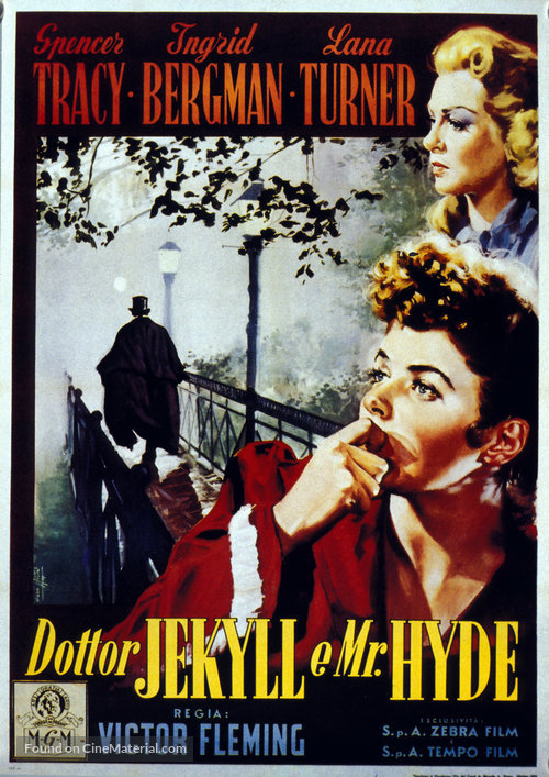 Dr jekyll and mr hyde italian movie poster