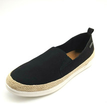 BearPaw Womans Jude Slip On Espadriille Sneakers Black Memory Foam Sz 9 ... - $28.91