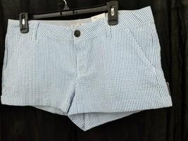 Blue White Light Seersucker SHORT short SO Wear It Declare It  sz 15 NWT... - $8.59