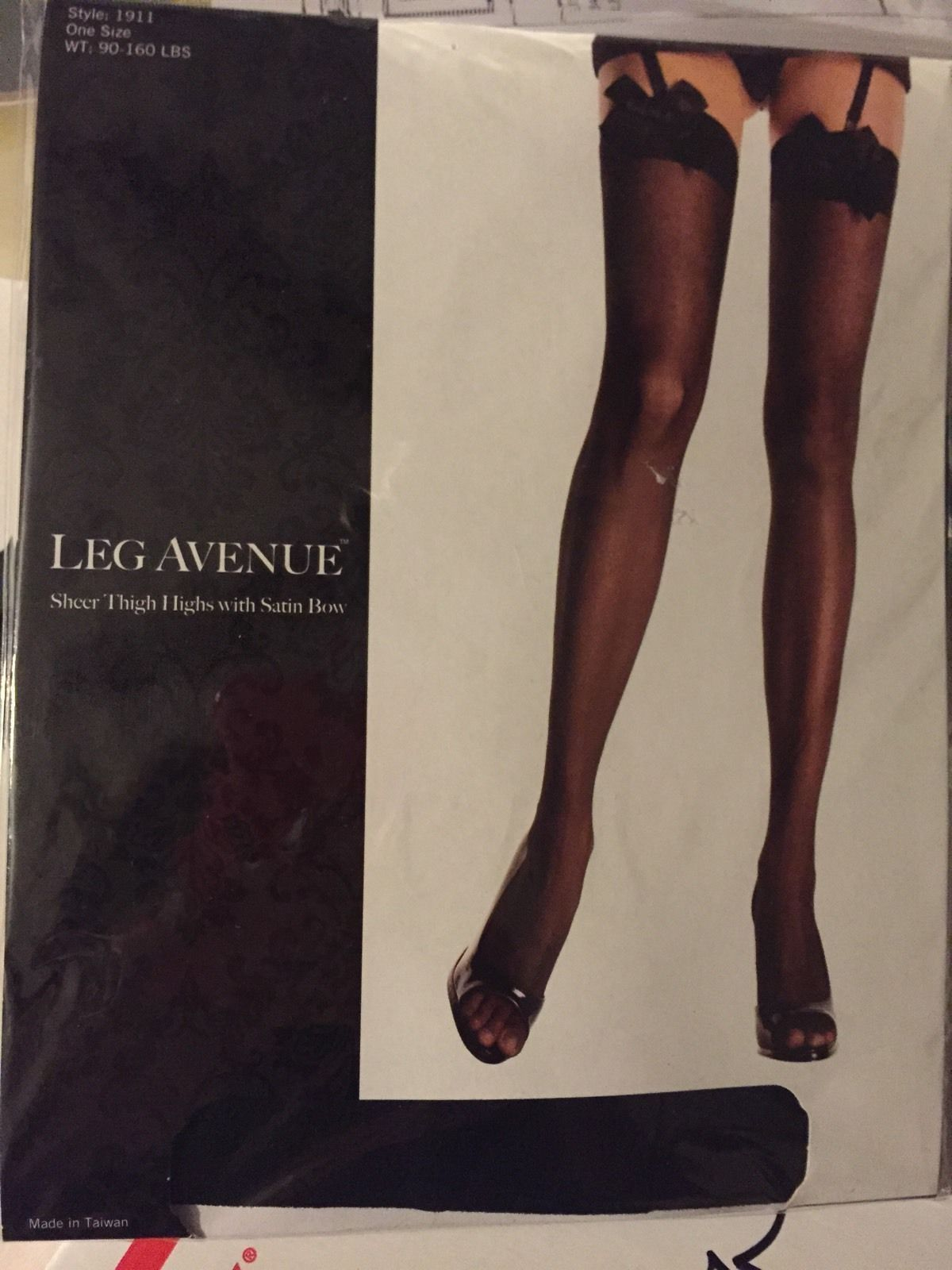 New Leg Avenue 1911 Sheer Thigh High Stockings With Satin Bow