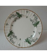 "VALENCIA Royal Worcester 8 1/8"" SALAD PLATE (s) China England Green Leaf... - $9.30"