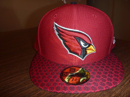 ARIZONA CARDINALS NEW ERA 59FIFTY 2017 ON FIELD SIDELINE RED FITTED HAT ... - $24.99
