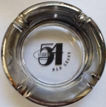 "Studio 54 MGM Grand Las Vegas 4-1/2"" x 3/4"" Clear/Silver Glass Ashtray - $29.95"