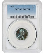 1912 1c PCGS PR 67 BN - Scarce Matte Proof - Lincoln Cent - Scarce Matte... - $6,887.00