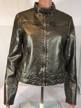 Vintage GUESS Jeans Los Angeles 1981 Jacket Retro  Brown Metallic Zip Sz:SP - $45.60