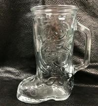 Vintage Libby Clear Glass Western Cowboy Boot Mug Glass  - $14.03
