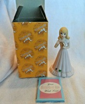 Growing Up Birthday Girls Age 9 Year Figure Bisque Porcelain-Enesco - $8.50
