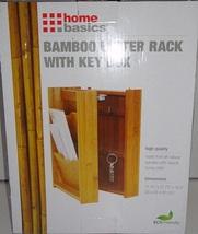 Home Basics by Pomerantz Bamboo Wood Mail / Letter / Keys Organizer LR01057 - $21.95
