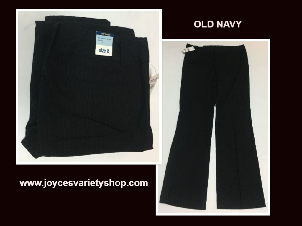 Old navy pinstriped pants 8 web collage