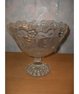 Vintag Mikasa Walther Crystal Pedestal Bowl Bows Ribbons Roses Flowers W... - $74.25