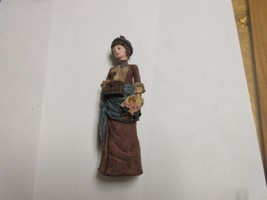 "Porcelaine ,Figurine ,Antique ,Vintage ,Lady In Brown,Pocket Book , 6""X2... - $34.65"