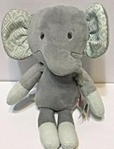 Fisher Price Sweet Surroundings Elephant Plush Crinkle Green Ears - $9.63