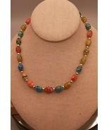 Vintage Millefiori Art Glass Necklace - $11.76