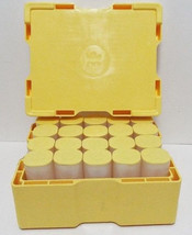 (2) Silver Maple Leaf Coin Tubes (Empty) Holds 25 Coins Each - Yellow Cap - $9.95