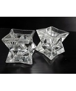 Vintage 1 Pair of AVON CRYSTAL CANDLE HOLDERS Over 24% FULL LEAD Rotated Pattern - $9.89