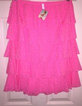 Victoria's Secret~ BEACH SEXY MESH LACE RUFFLE SWIM COVER~Medium ~Pink~NWT - $18.24