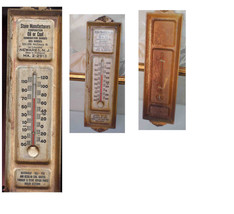 VERY VINTAGE/ANTIQUE THERMOMETER-STOVE MANUFACTURES  CORP-NEWARK NJ-COAL... - $39.99
