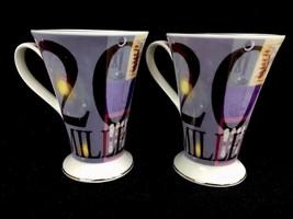 Pair 2000 Millennium Coffee Cups Albert Einstein Hannah Dipper Royal Bur... - $21.01