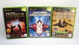 Star Wars The Clone Wars Jedi Starfighter Revenge Of The Sith Microsoft Xbox Lot - $24.95