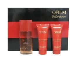 Yves Saint Laurent Opium 1.6 oz EDT Spray Old Formula + 2.5 oz B/L+ 2.5 ... - $89.95