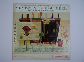 Norman Luboff Choir Moments To Remember Vinyl LP Record Album MONO CL 1423 - $8.90