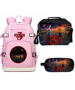 WM Stranger Things Season 3 Backpack Lunch Box Pencil Case Large Pink A - $53.99