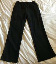 ANNE KLEIN Woven Black Elastic Waist Loose Palazzo Pants Size 4 NWT $89 ... - $18.69