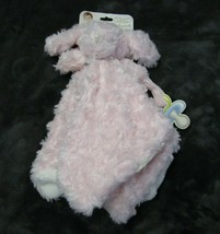 Blankets and Beyond Pink & Gray Puppy Dog Bunny Lovey Security Nunu Paci... - $44.05