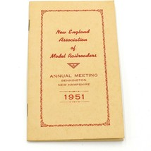 1951 New England Association of Model Railroaders Book  Annual Meeting P... - $10.84