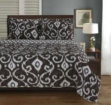 3pc Full/Queen Superior Brown Cambridge Victorian Design Quit & Pillow Shams  - $89.05