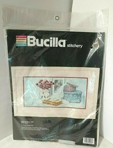 Still Life Once Upon A Time Embroidery Kit New Sealed Bucilla Stitchery Stamped - $25.20
