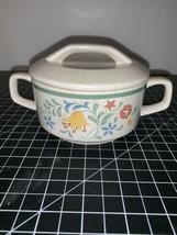 Vintage Temper-Ware By Lenox Quakertown Sugar Bowl With Lid Excellent Condition - $14.01