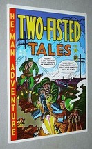 1970's EC Comics Two-Fisted Tales 25 US Army battle comic book cover art poster - $39.99